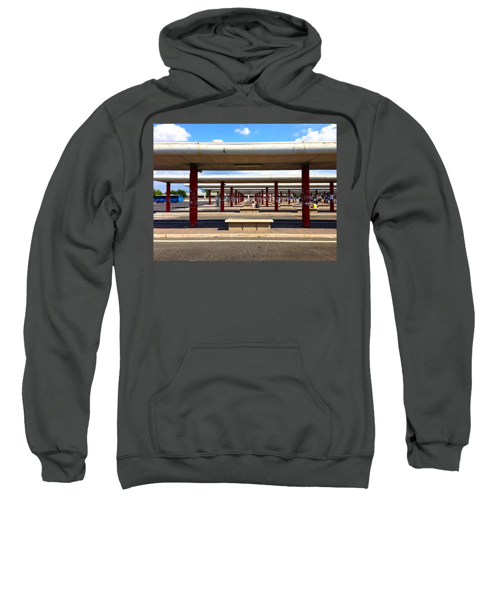 Rome Sweatshirt featuring the photograph Roman Bus Stop by Lexi Heft