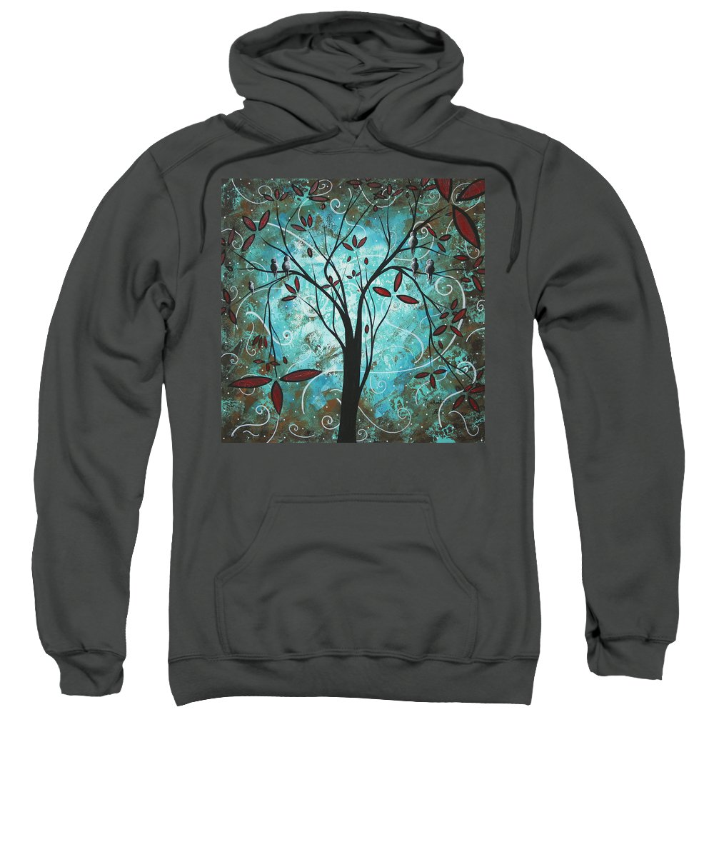 Wall Sweatshirt featuring the painting Romantic Evening By Madart by Megan Duncanson