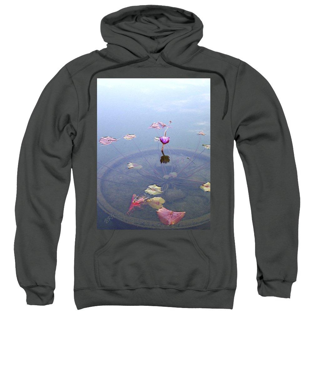 Waterlily Sweatshirt featuring the photograph Romantic Pond by Ben and Raisa Gertsberg