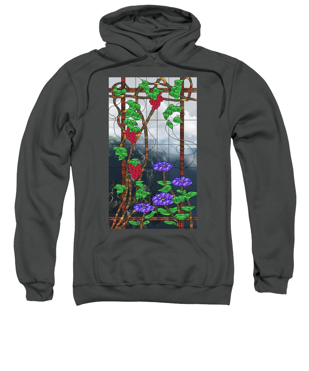 Room With A View Sweatshirt featuring the mixed media Room With A View by Georgiana Romanovna
