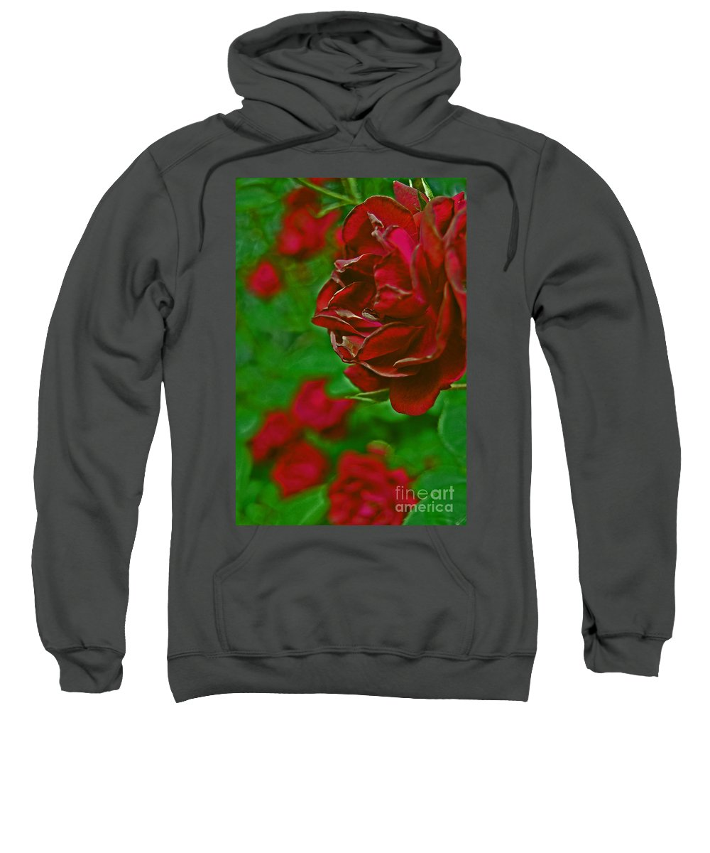 First Star Art Sweatshirt featuring the photograph Rose Red By Jrr by First Star Art