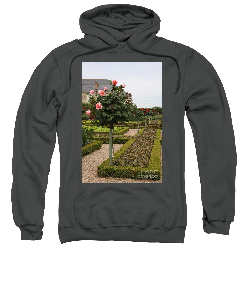 Roses Sweatshirt featuring the photograph Roses And Salad - Chateau Villandry by Christiane Schulze Art And Photography