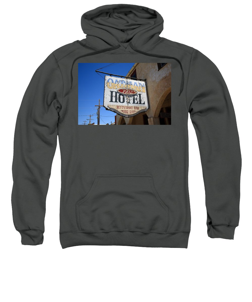 66 Sweatshirt featuring the photograph Route 66 - Oatman Hotel by Frank Romeo