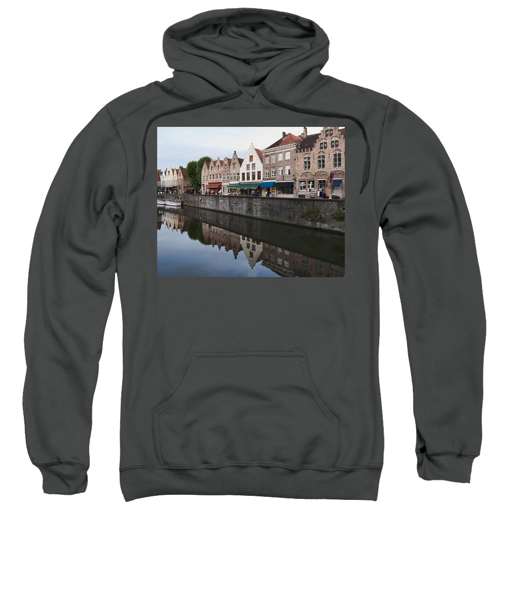 Rozenhoedkaai Bruges Sweatshirt featuring the photograph Rozenhoedkaai Bruges by Phyllis Taylor