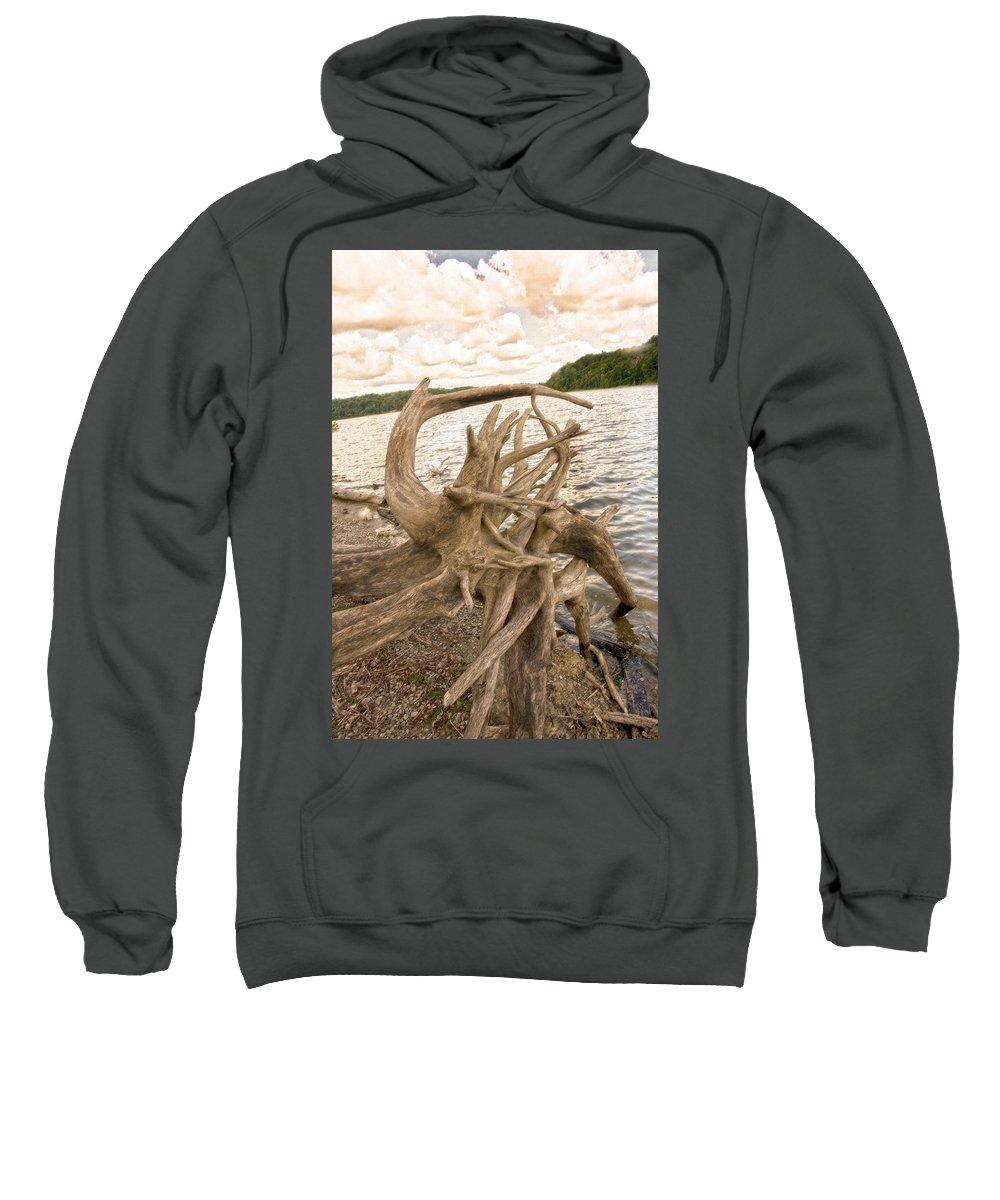 Lake Sweatshirt featuring the photograph Ruff Times by Randall Branham