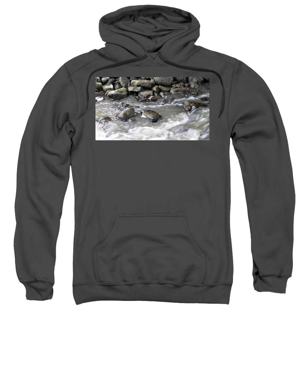 Water Sweatshirt featuring the digital art Rushing Water by Jim Brage