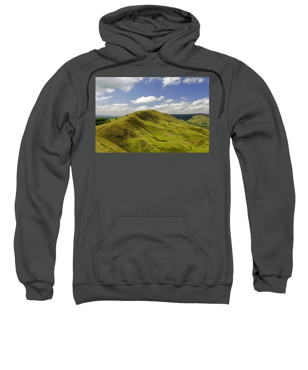 Derbyshire Sweatshirt featuring the photograph Rushup Edge From Mam Tor by Rod Johnson