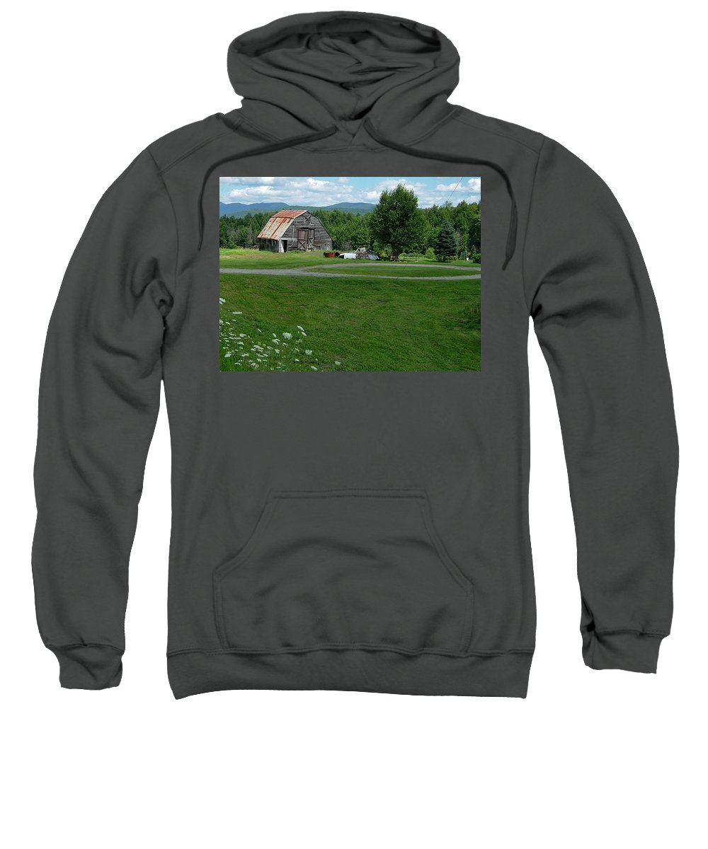 Small Sweatshirt featuring the photograph Rustic Vermont Barn by Susan Wyman