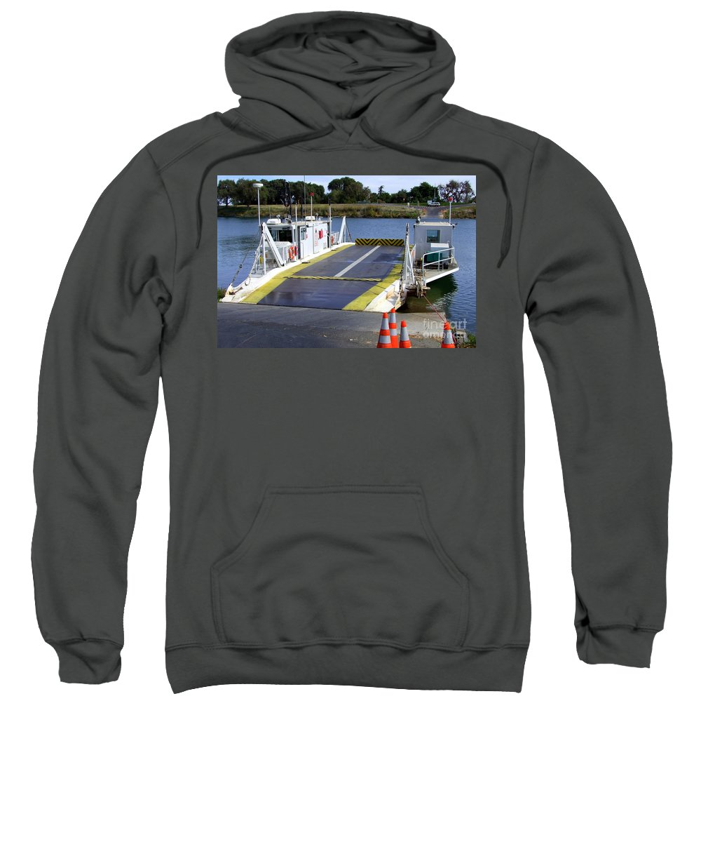 Mary Deal Sweatshirt featuring the photograph Ryer And Grand Island Ferry by Mary Deal