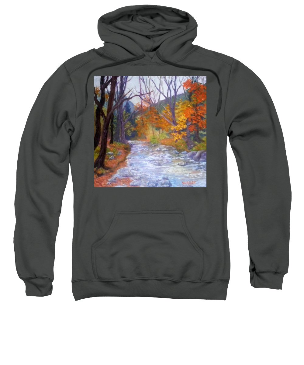 Saco Sweatshirt featuring the painting Saco Creek by Sharon E Allen