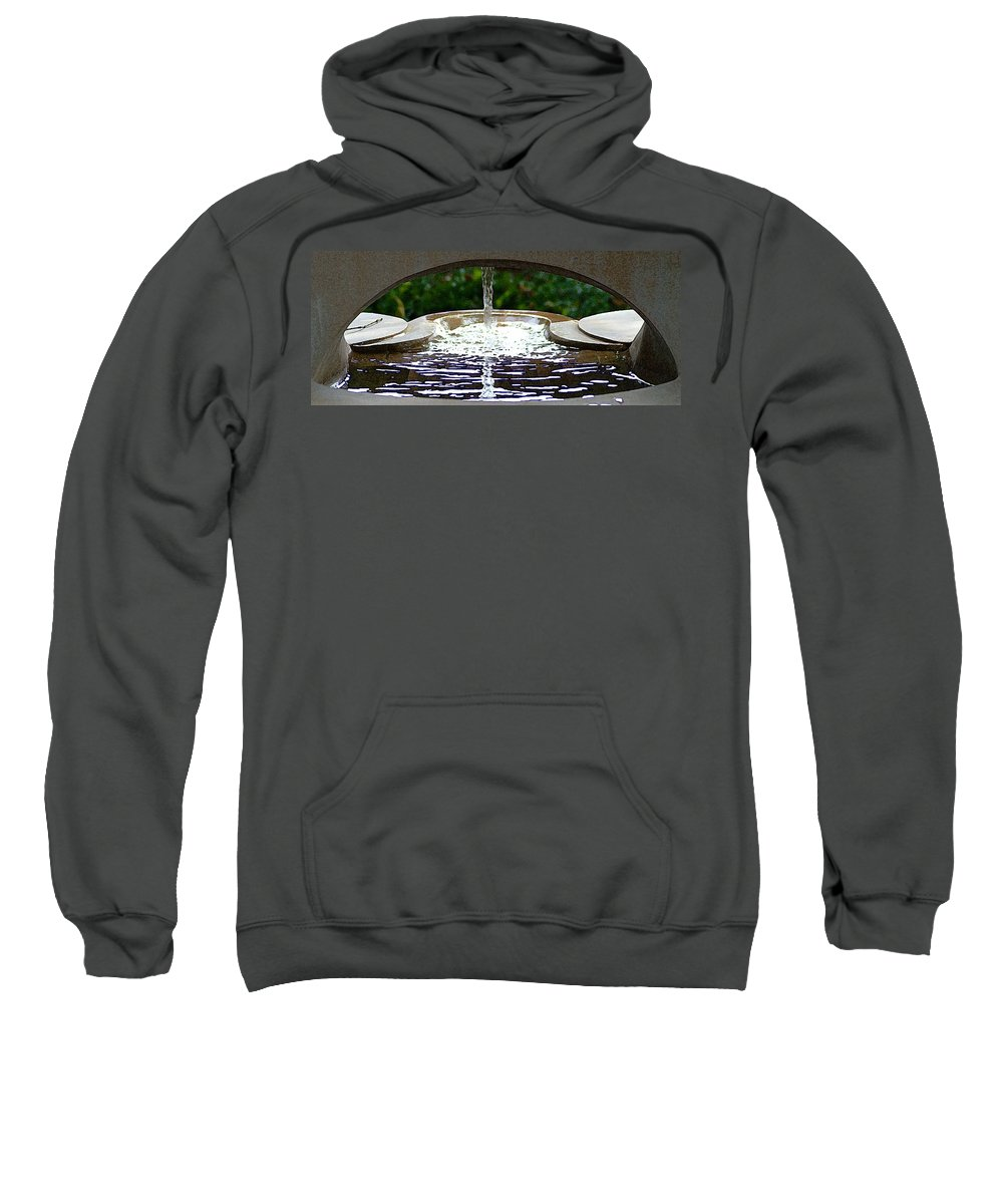 Indiana Sweatshirt featuring the photograph New Harmony Sacred Garden by Steve Archbold