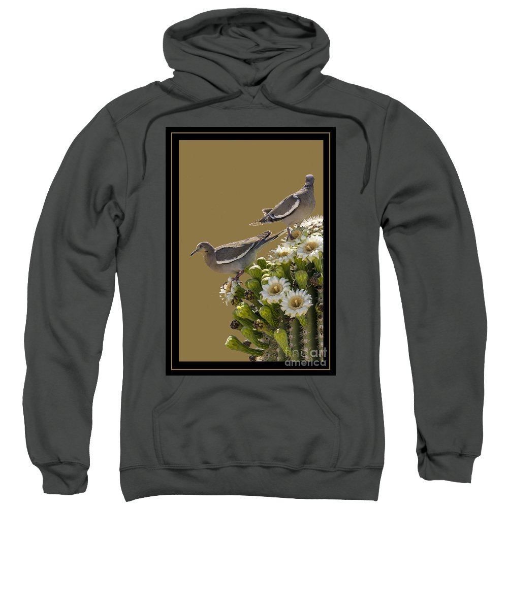Cactus Sweatshirt featuring the photograph Saguaro Cactus Flower 6 by Larry White