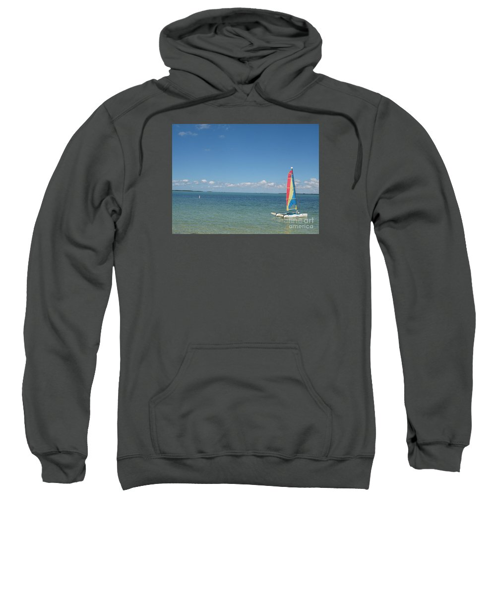 Sailing Sweatshirt featuring the photograph Sailing At Key Largo by Christiane Schulze Art And Photography