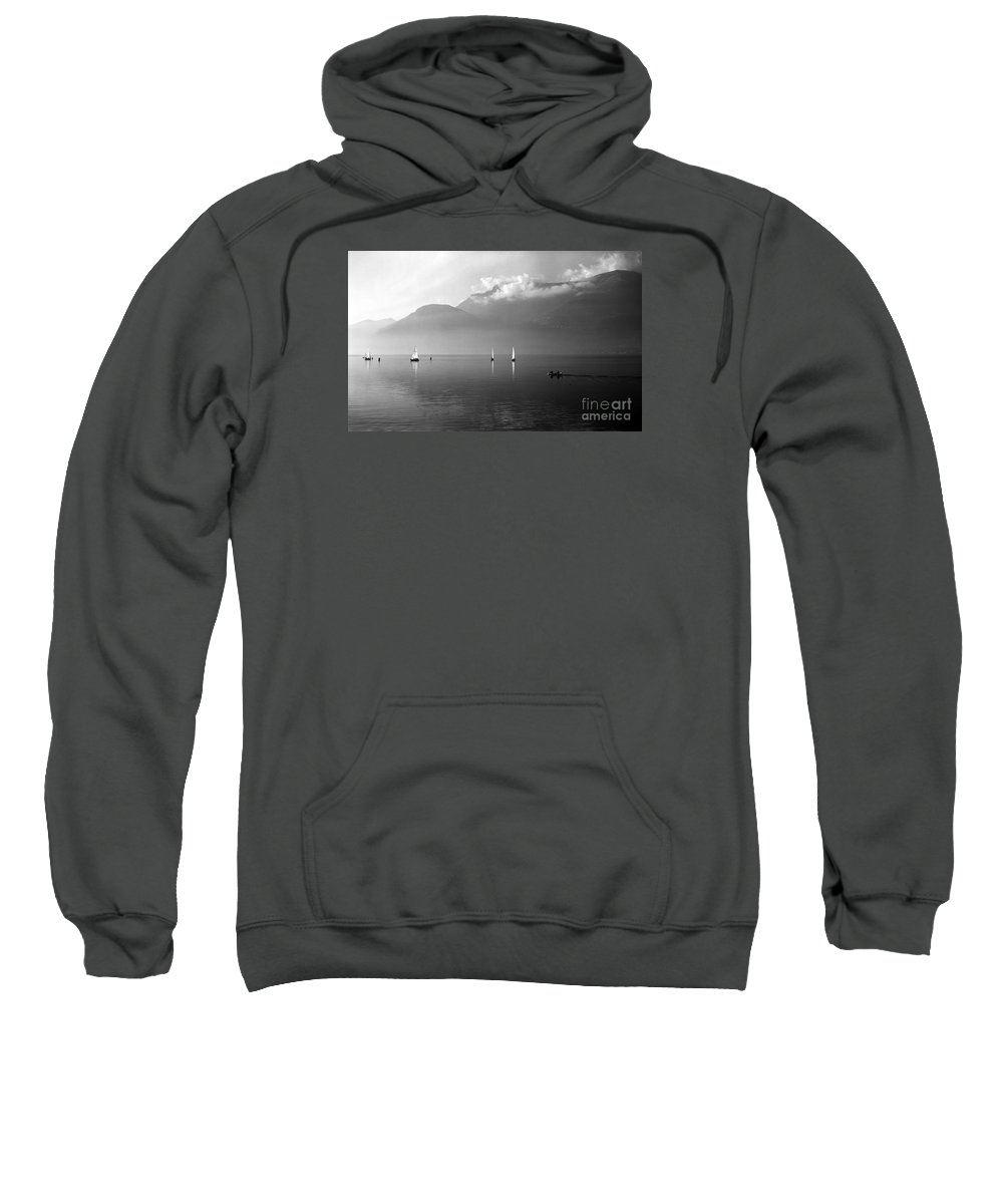 Lario Sweatshirt featuring the photograph Sailing Boats On Como Lake by Riccardo Mottola