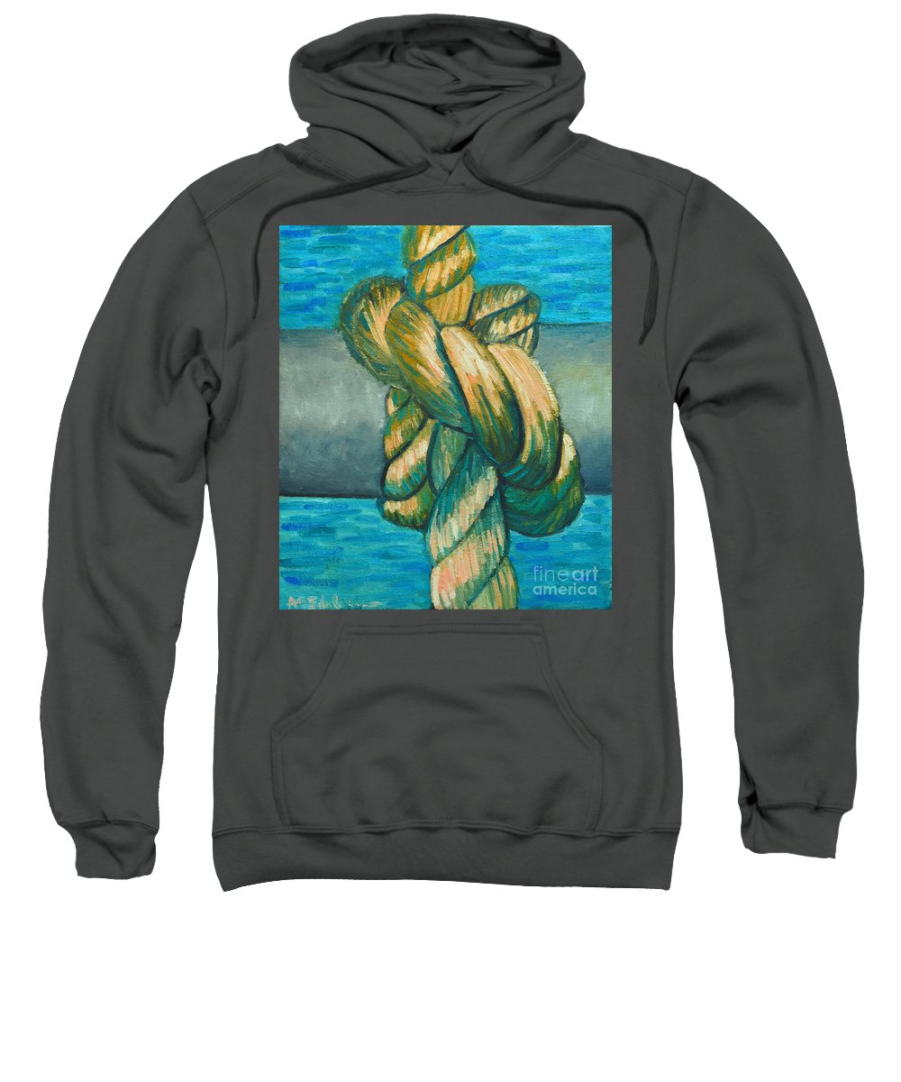 Knot Sweatshirt featuring the painting Sailor Knot 9 by Ana Maria Edulescu