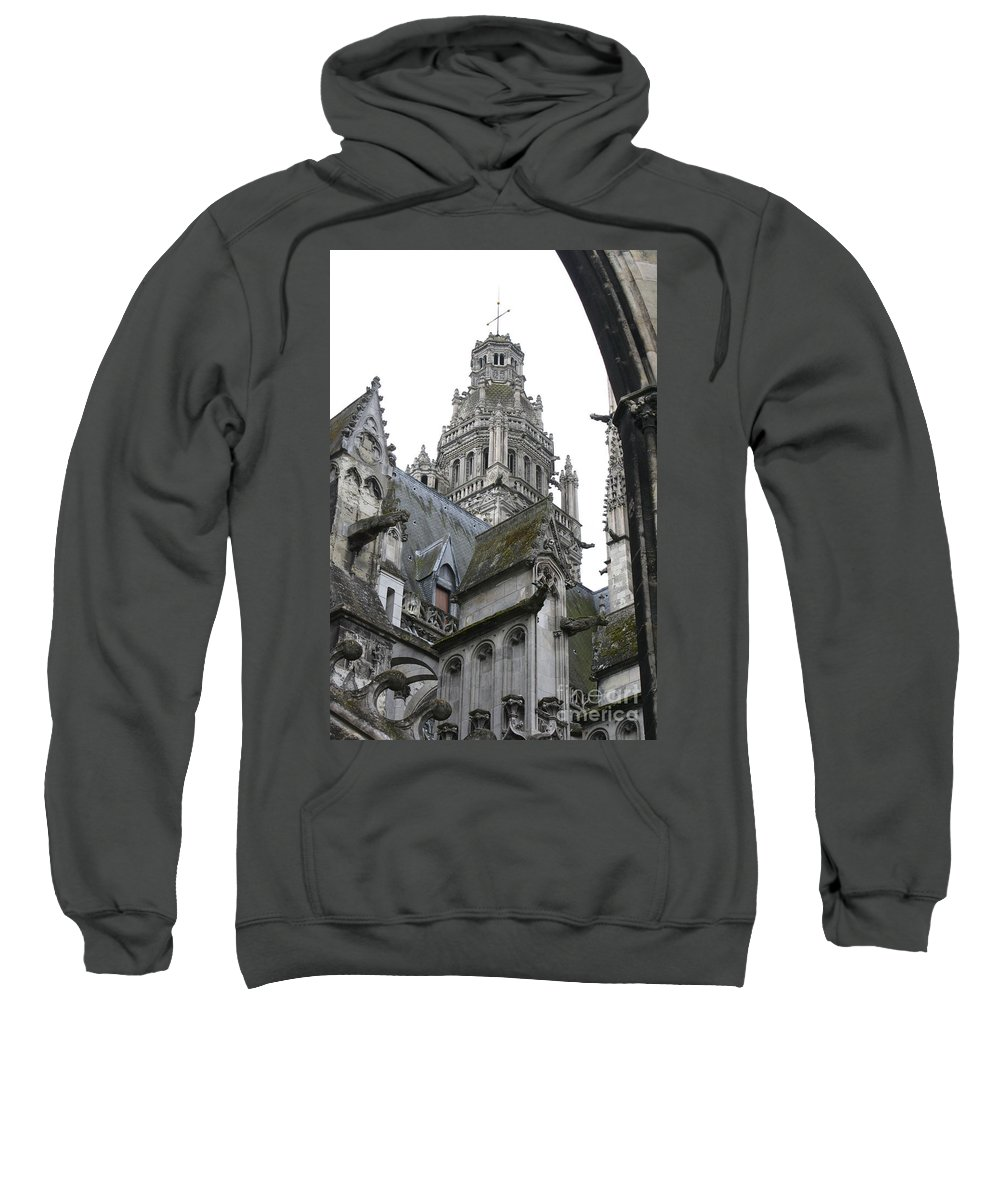 Cathedral Sweatshirt featuring the photograph Saint Gatien's Cathedral Steeple by Christiane Schulze Art And Photography