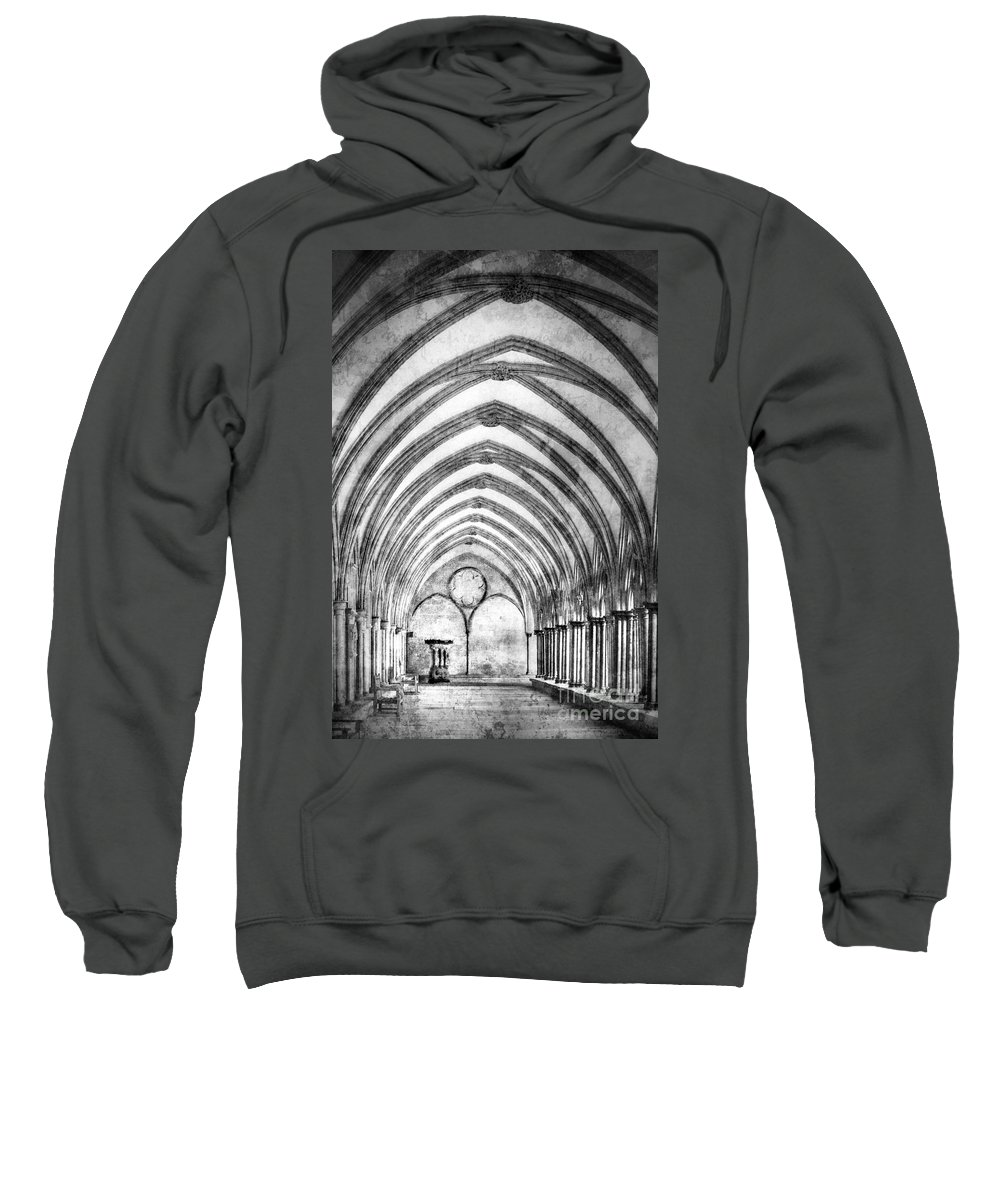 Architecture Sweatshirt featuring the photograph Salisbury Cathedral Cloisters by Linsey Williams