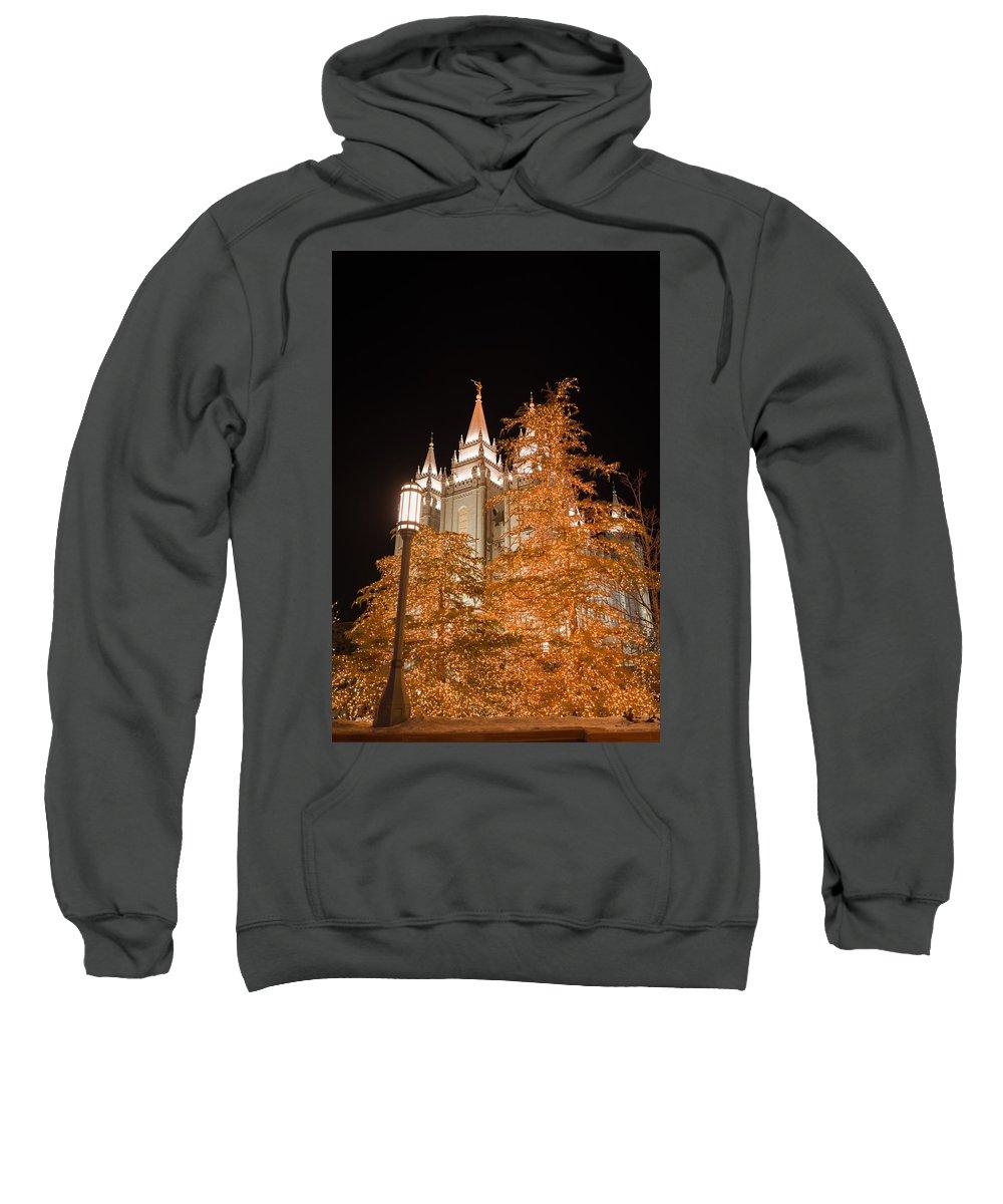 Temple Sweatshirt featuring the photograph Salt Lake Temple by Dustin LeFevre