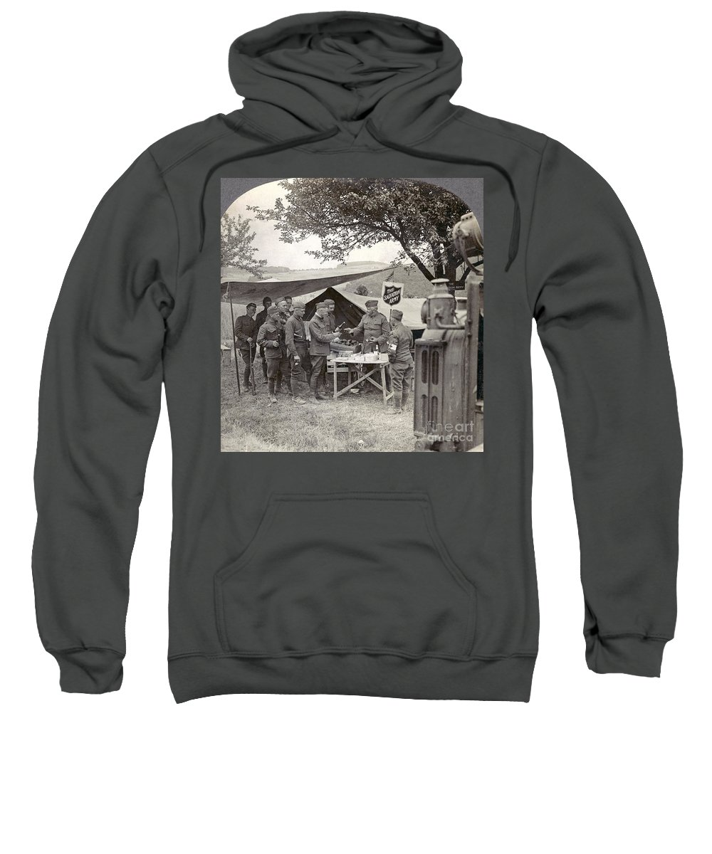 1918 Sweatshirt featuring the photograph Salvation Army At Front by Granger