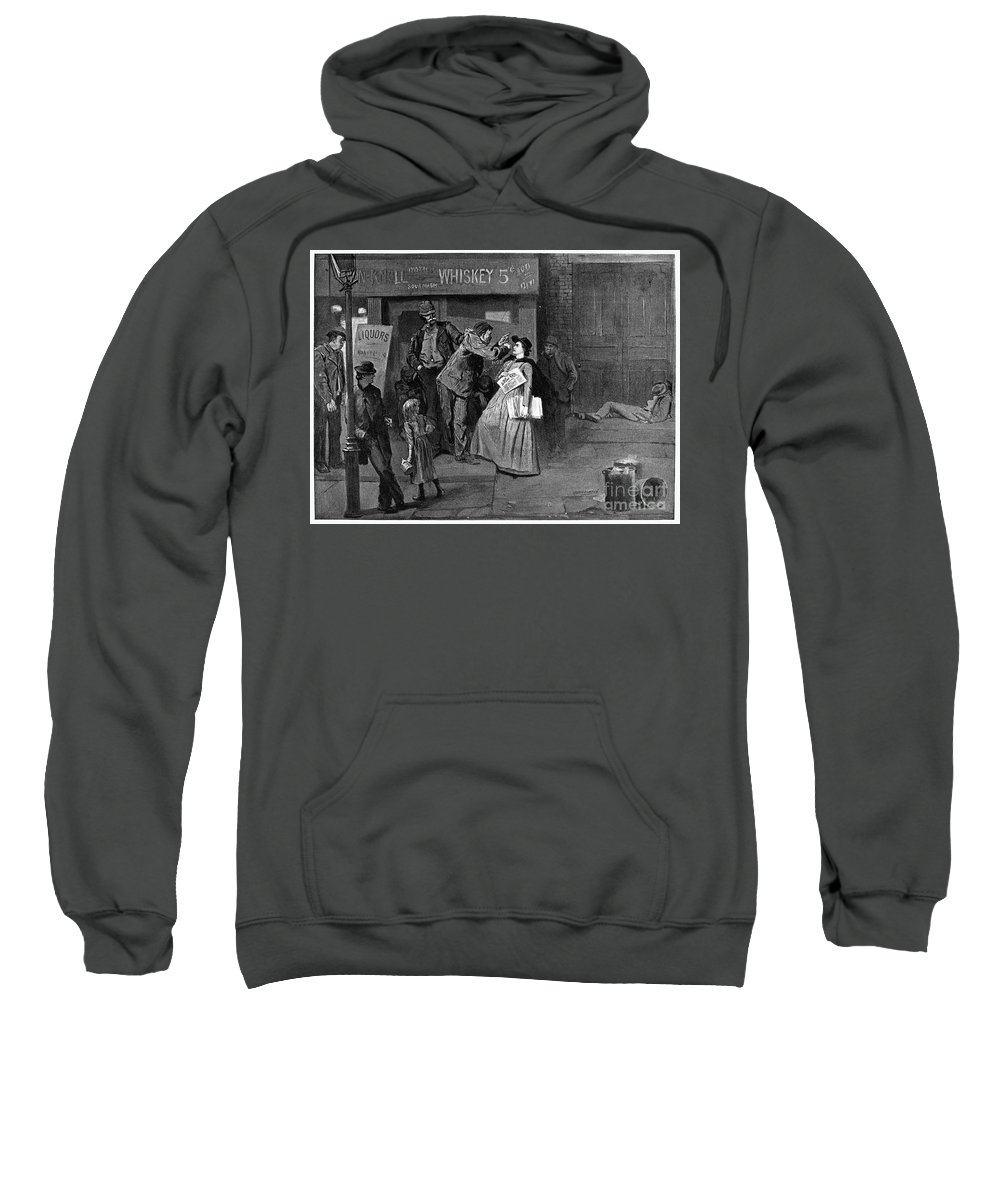 1894 Sweatshirt featuring the photograph Salvation Army In Slums by Granger