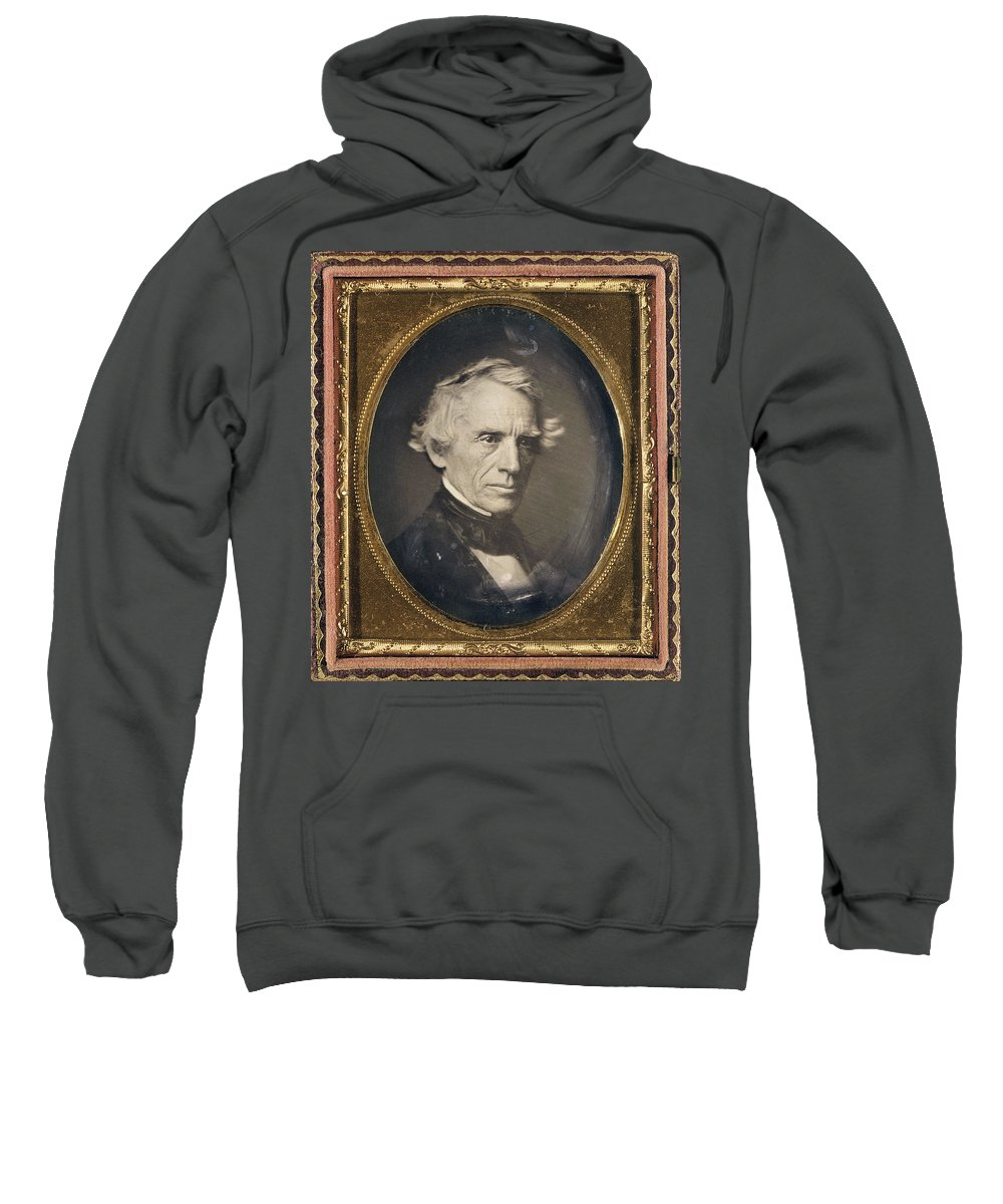 1845 Sweatshirt featuring the photograph Samuel Finley Breese Morse by Granger