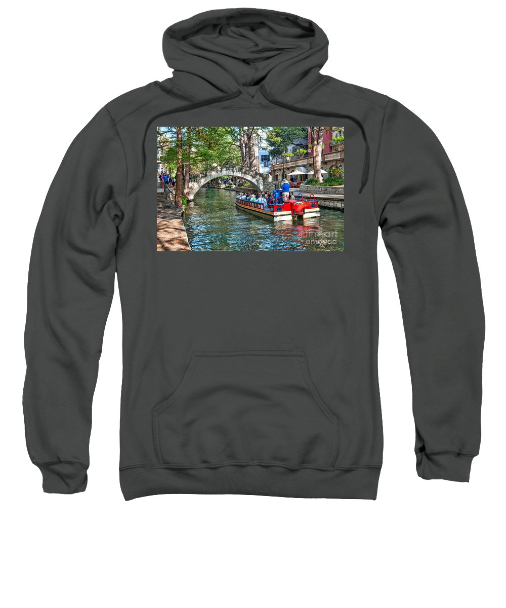 San Antonio Sweatshirt featuring the photograph San Antonio River Walk by Tod and Cynthia Grubbs