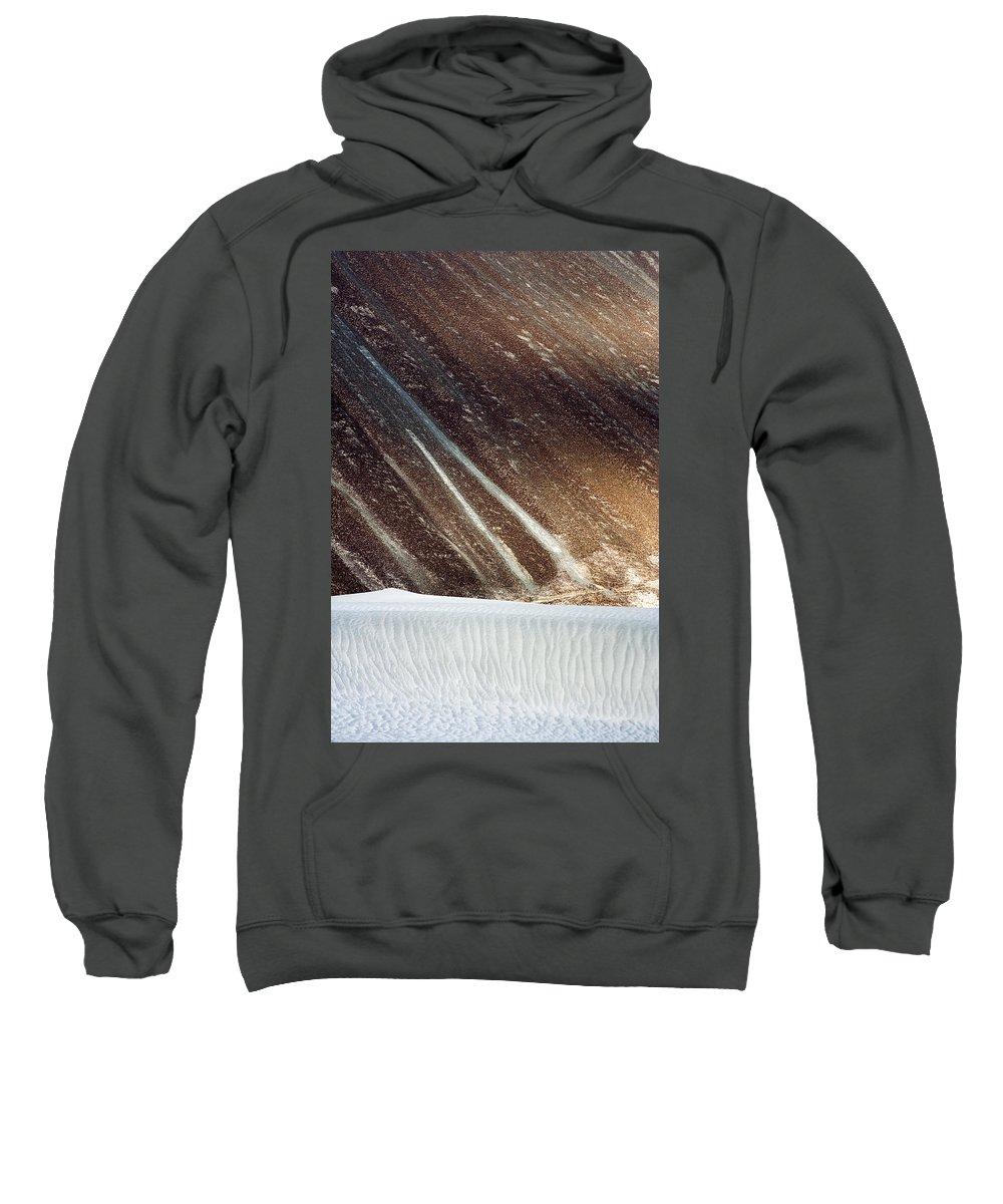 Desert Sweatshirt featuring the photograph Sand Abstract, Hunder, 2006 by Hitendra SINKAR