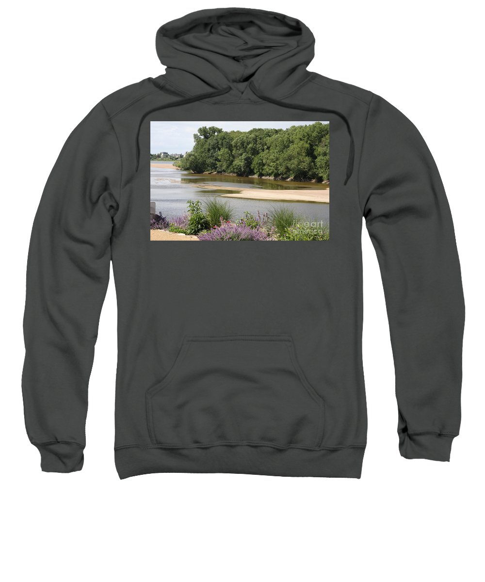 River Sweatshirt featuring the photograph Sandbanks In The River by Christiane Schulze Art And Photography