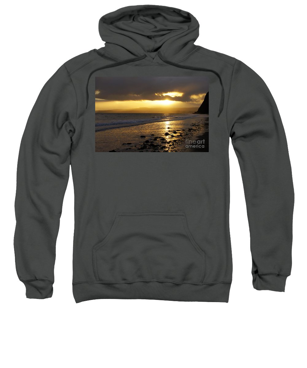 Sunset Sweatshirt featuring the photograph Sandy Bay At Dusk by Jonathan Steward
