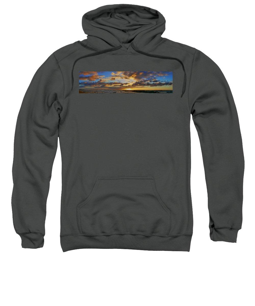 East Oahu Sweatshirt featuring the photograph Sandy Beach Sunrise by Richard Cheski