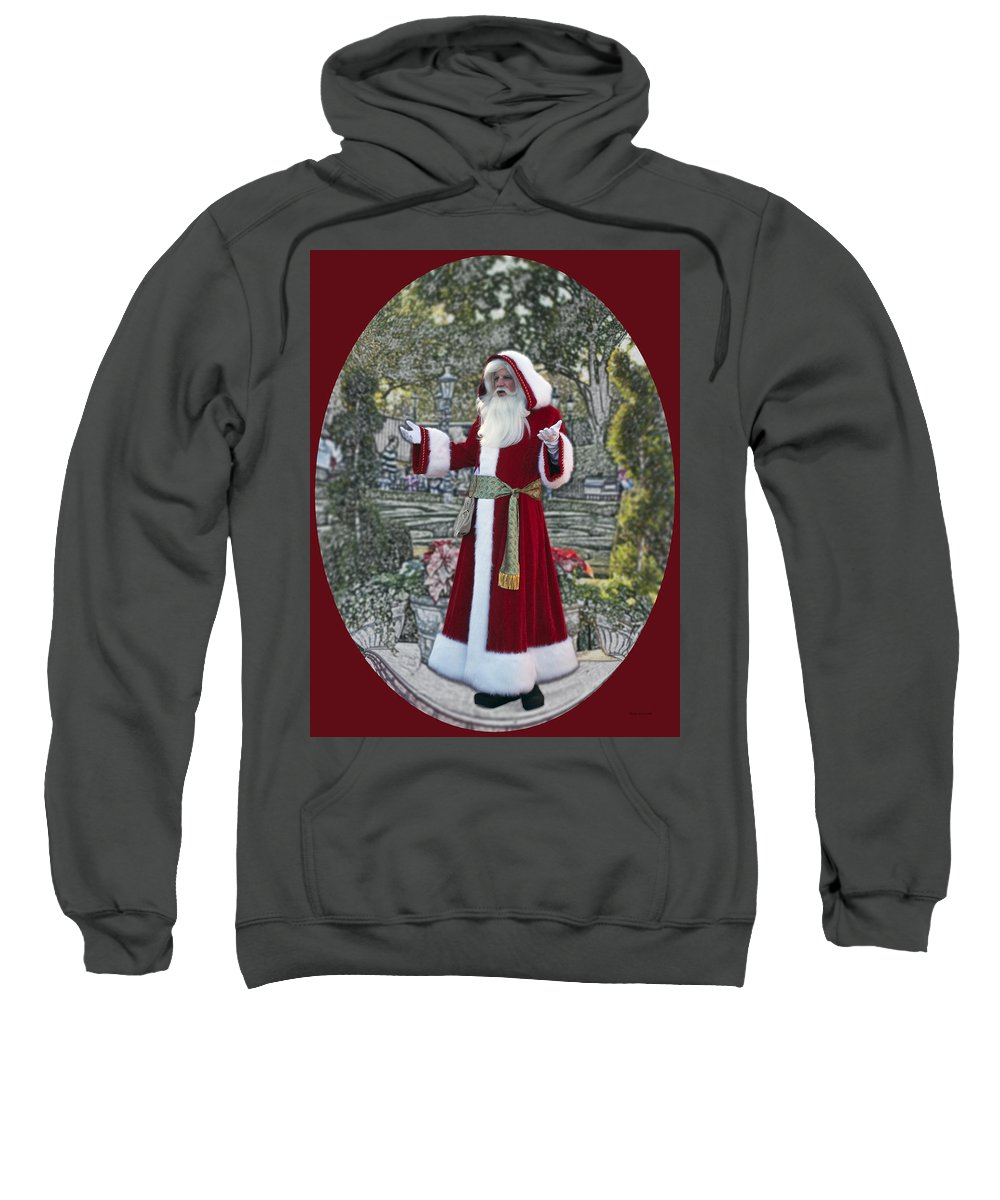 Santa Sweatshirt featuring the photograph Santa Claus Walt Disney World Oval by Thomas Woolworth