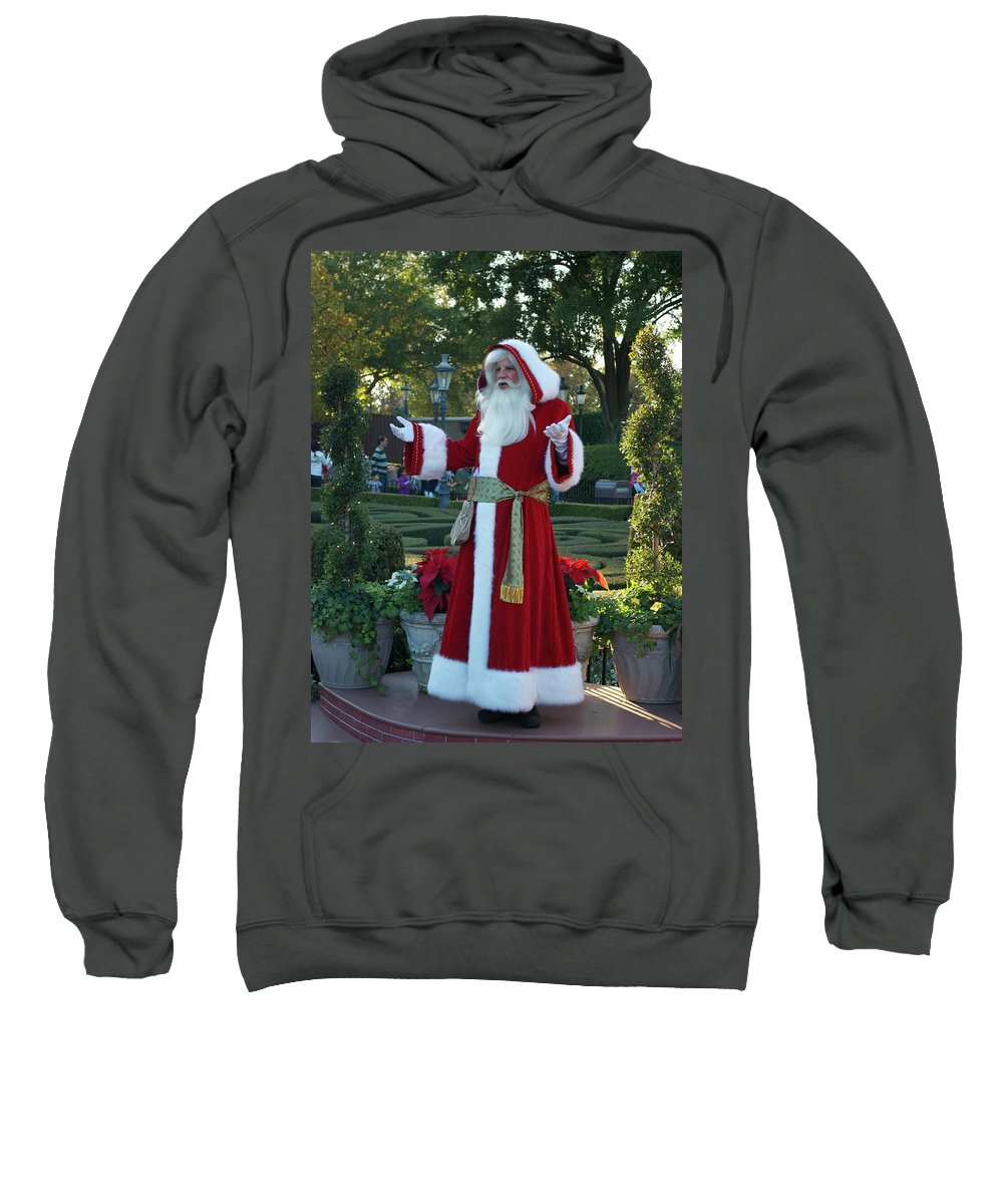 Santa Sweatshirt featuring the photograph Santa Walt Disney World by Thomas Woolworth