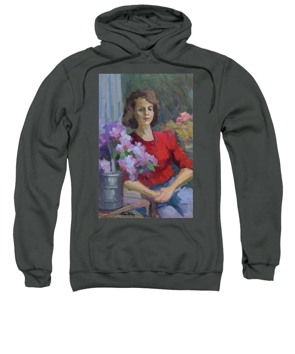 Woman Sweatshirt featuring the painting Sarah by Diane McClary
