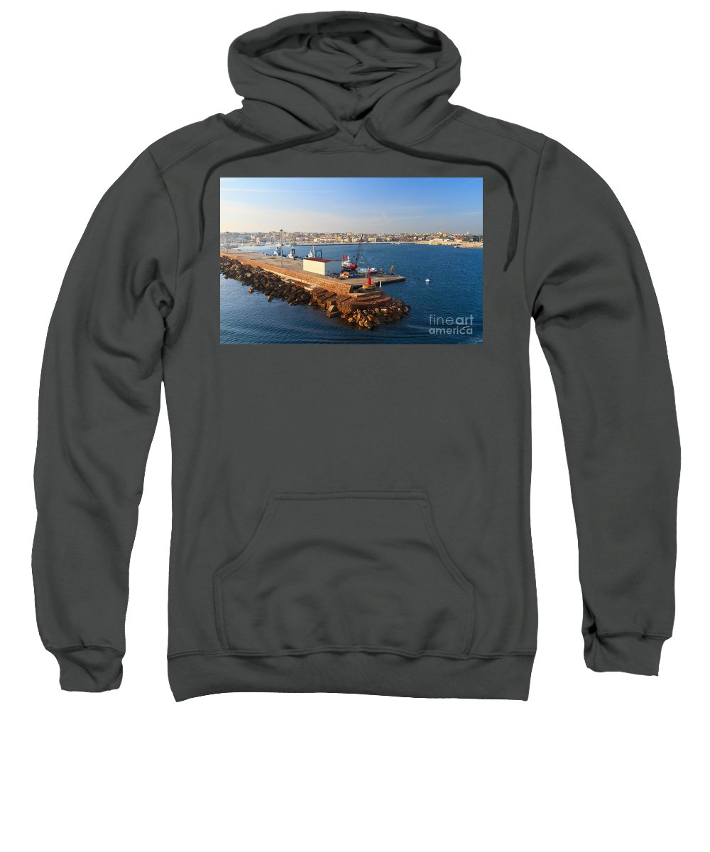 Blue Sweatshirt featuring the photograph Sardinia - Porto Torres by Antonio Scarpi