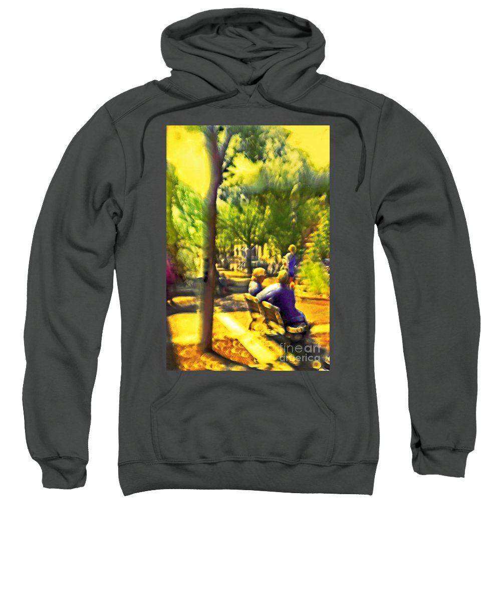 People Sweatshirt featuring the photograph Saturday Afternoon by Madeline Ellis