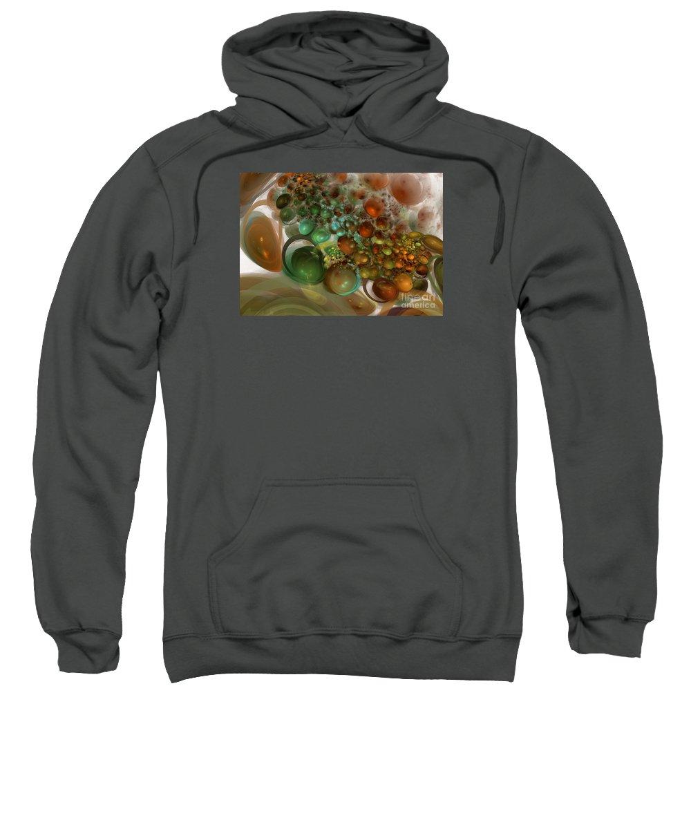 Saturn Sweatshirt featuring the digital art Saturn Expansion by Shari Nees