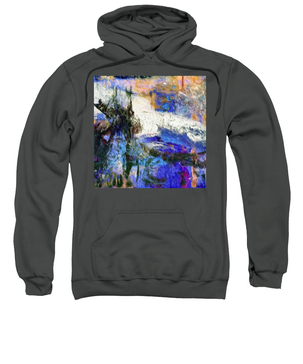 Abstract Sweatshirt featuring the painting Sausalito by Dominic Piperata