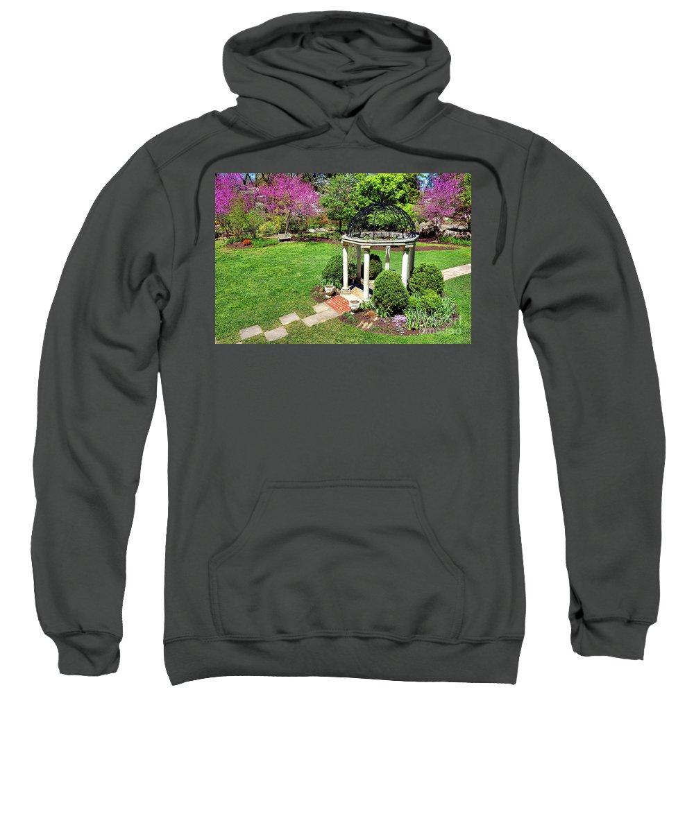 Sayen Sweatshirt featuring the photograph Sayen Garden Spring by Olivier Le Queinec