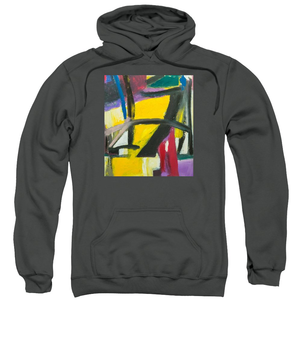 Abstract Art; Abstract Design; Sweatshirt featuring the painting Scarface by Suresh Pitamber