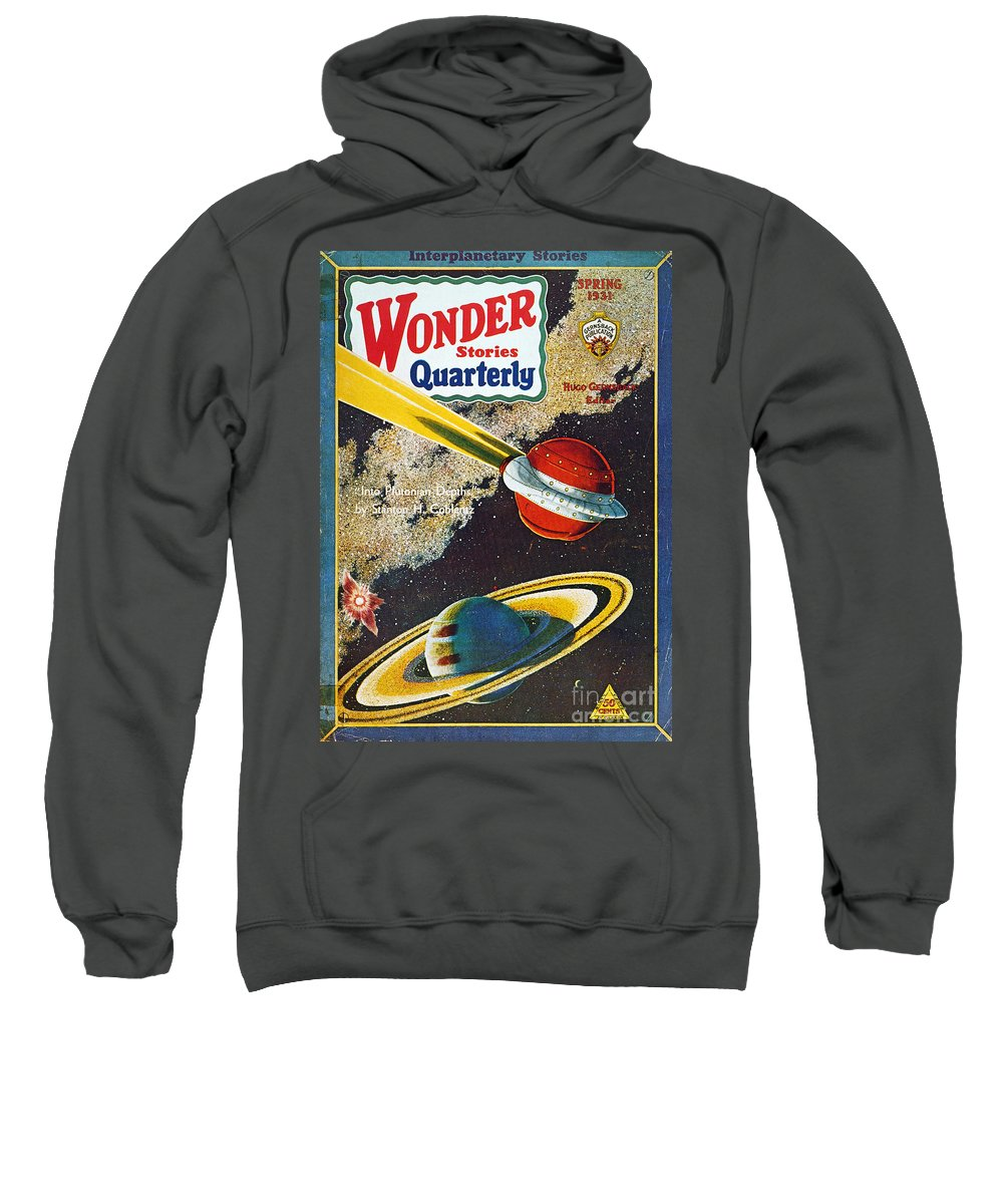 1931 Sweatshirt featuring the photograph Science Fiction Cover, 1931 by Granger