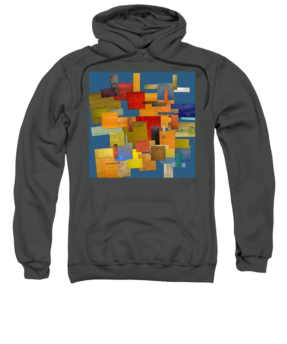 Textural Sweatshirt featuring the painting Scrambled Eggs Lv by Michelle Calkins