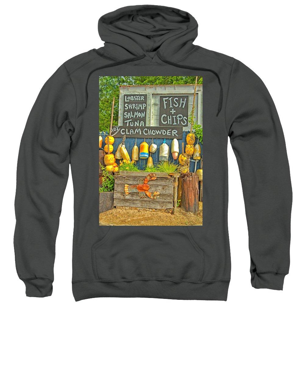 Nautical Sweatshirt featuring the photograph Sea Food by Karol Livote