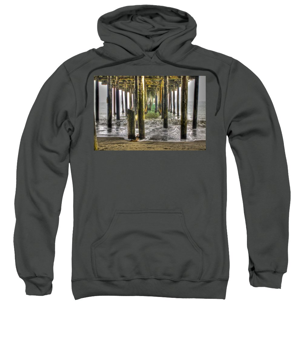 Seacliff Sweatshirt featuring the photograph Seacliff Pier by SC Heffner