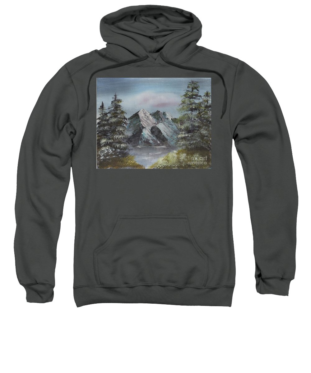 Landscape Sweatshirt featuring the painting Seclusion by Suzette Broad