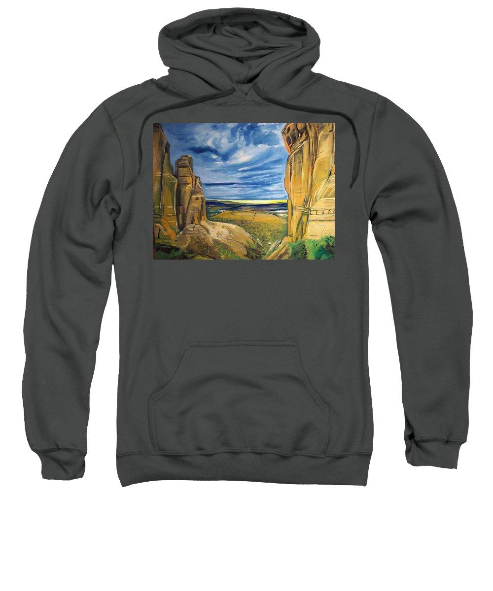 Sweatshirt featuring the painting Sedona by Jude Darrien