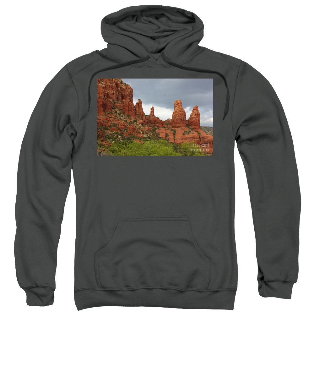 Sandstone Sweatshirt featuring the photograph Sedona Sandstone by Carol Groenen