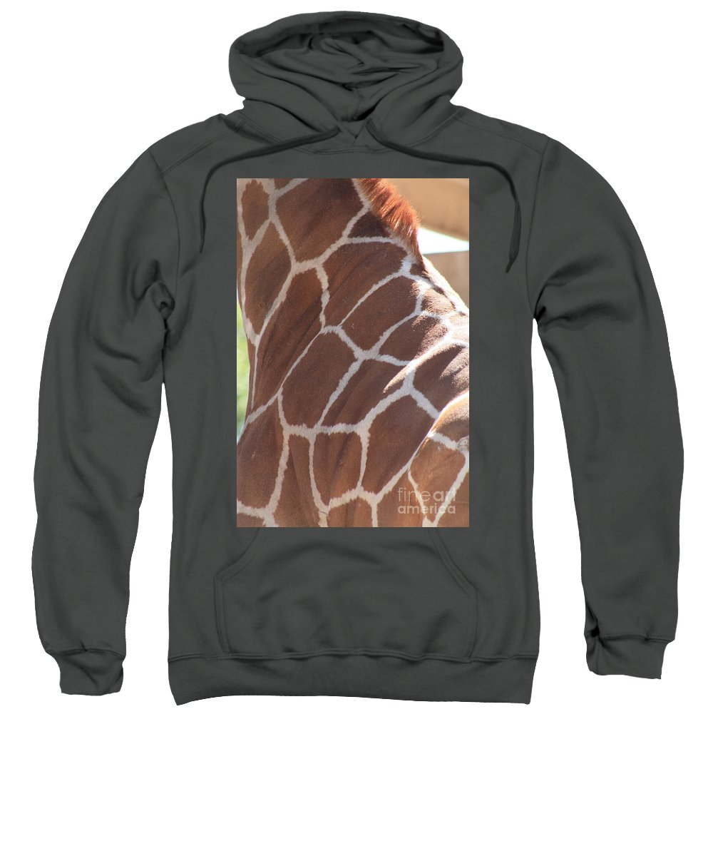 Giraffe Sweatshirt featuring the photograph Seeing Spots by Brandi Maher