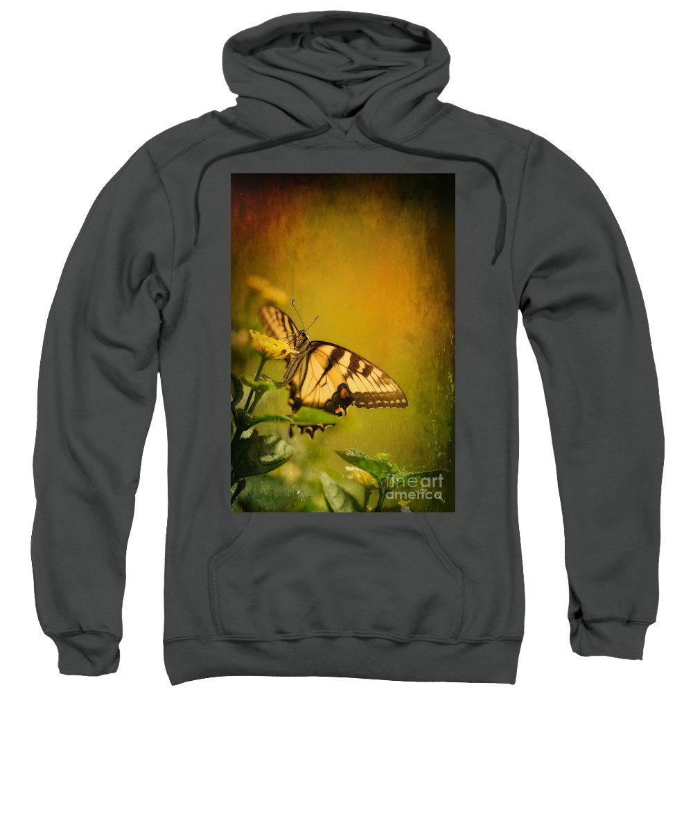 Butterfly Sweatshirt featuring the photograph Seeking Sweetness 2 by Lois Bryan