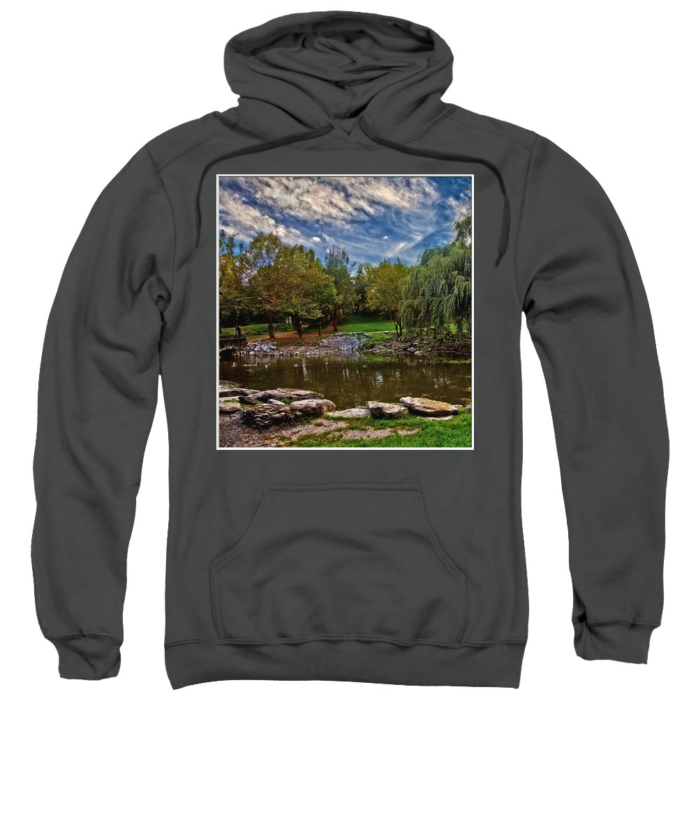 Park Sweatshirt featuring the photograph Serenity by Jim Markiewicz