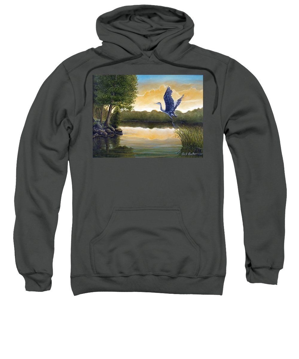 Rick Huotari Sweatshirt featuring the painting Serenity by Rick Huotari